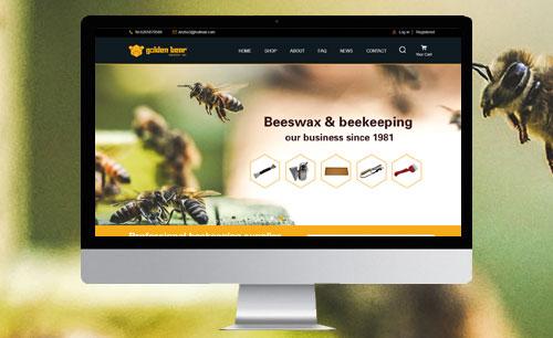 goldenbearindustry养蜂产品网站开发